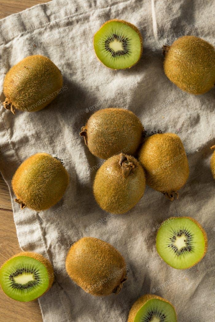 Raw Green Organic Kiwi Fruit