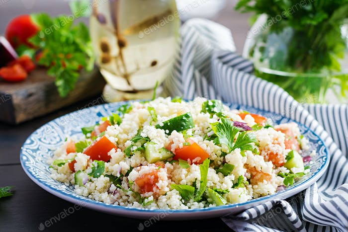 Traditional Lebanese Salad Tabbouleh.