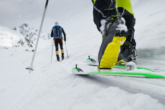 Ski mountaineering boot
