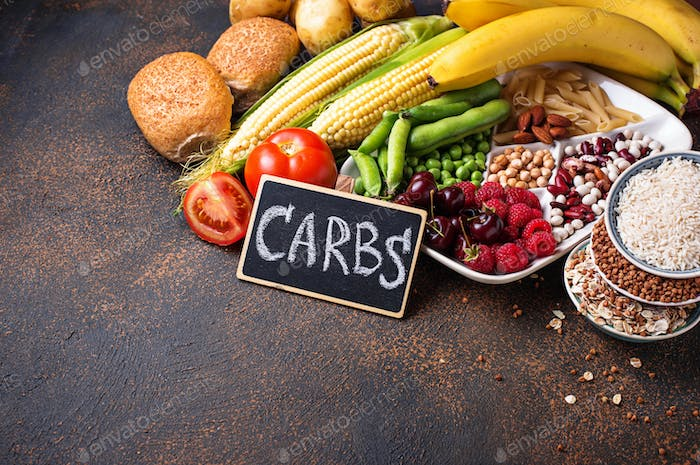 Healthy products sources of carbohydrates