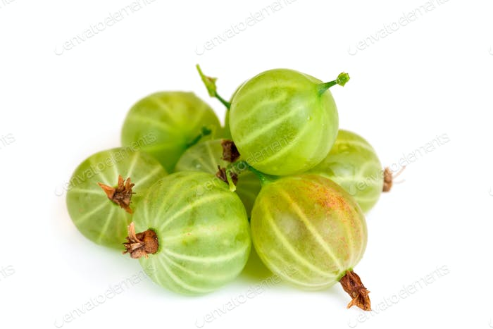 gooseberry isolated on white