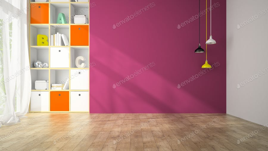 Empty room with wooden panel walls 3D rendering photo by hemul75 on ...