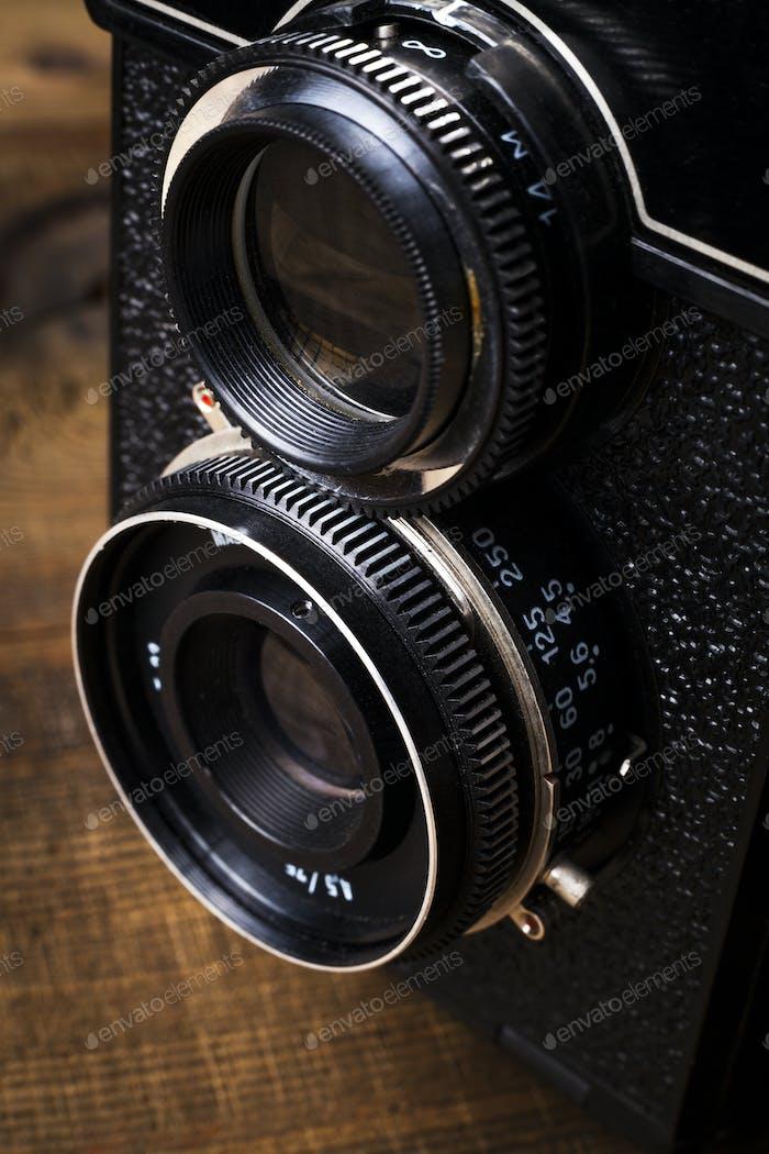 Primer plano de la lente