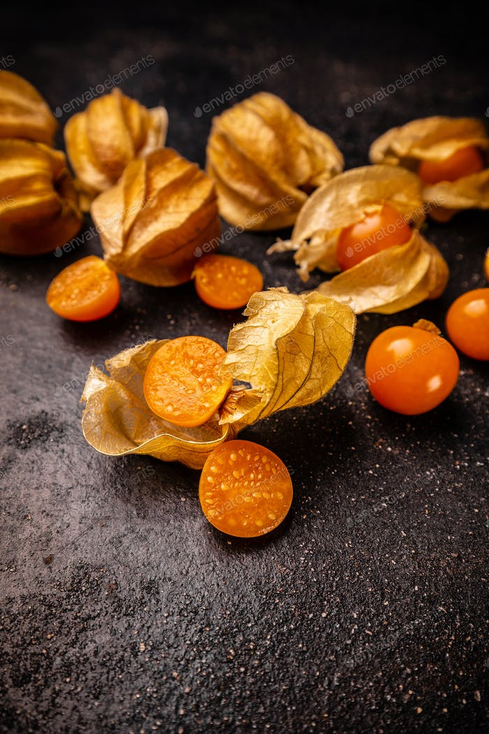 Physalis, cape gooseberry fruit