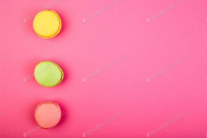 Sweet Dessert Macaron or macaroon