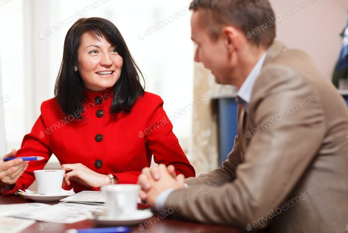 Businesswoman in a meeting with a colleague