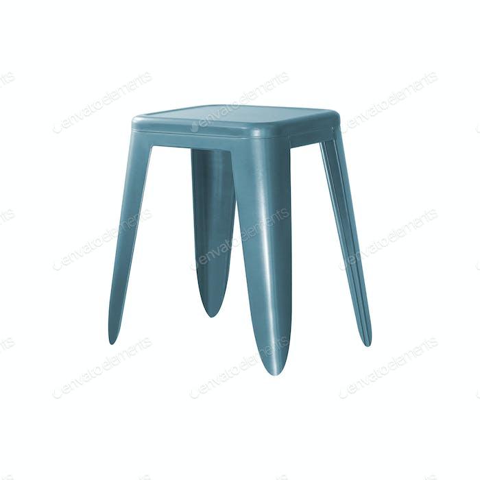 plastic stool on white background