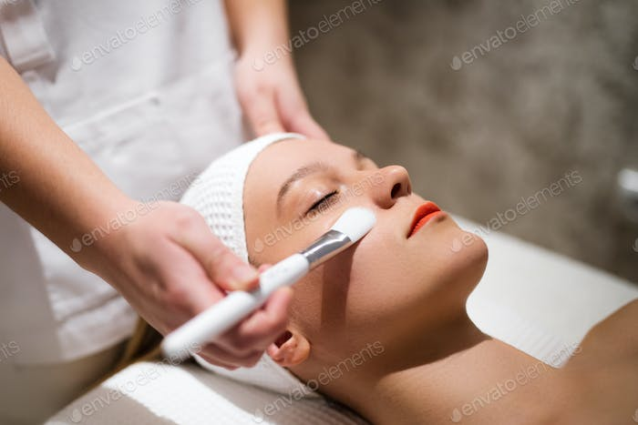 Cosmetic and massage treatment at wellbeing saloon