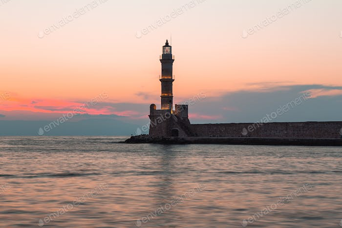 The Lighthouse Of Chania,Greece