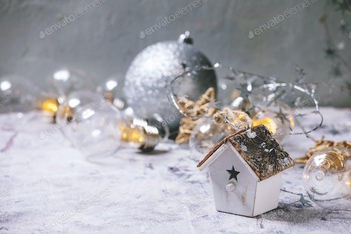 Christmas toy birdhouse
