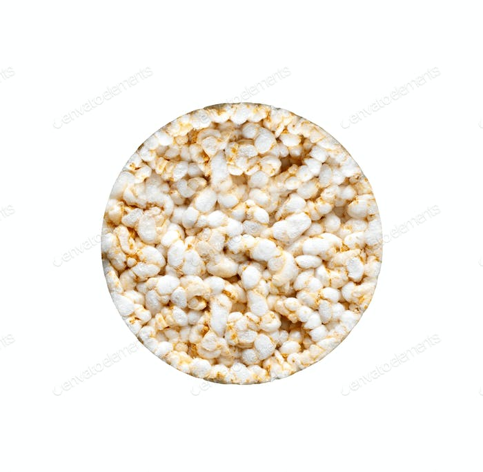 rice bread on a white background