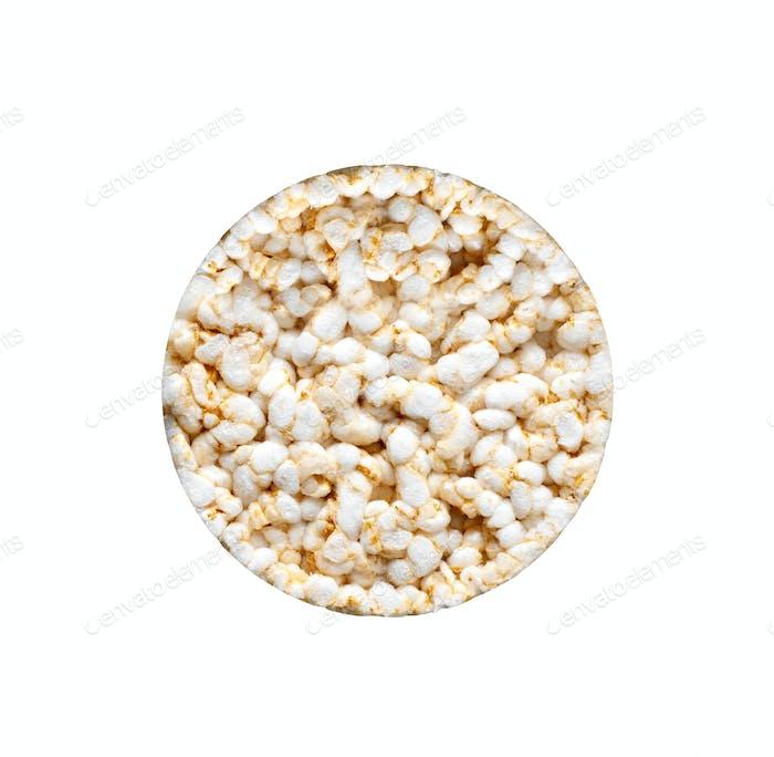 Reisbrot auf weißem Hintergrund