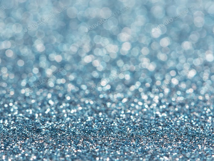 Abstract of blue bokeh light background
