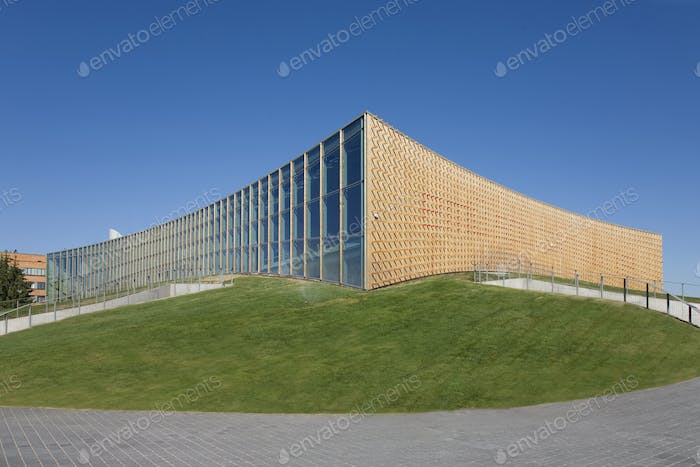 Abstract Exterior of a University Sports Club