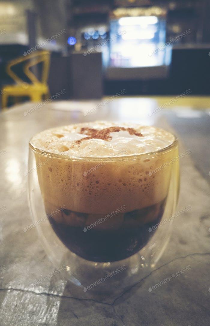 café expreso disparado en café café