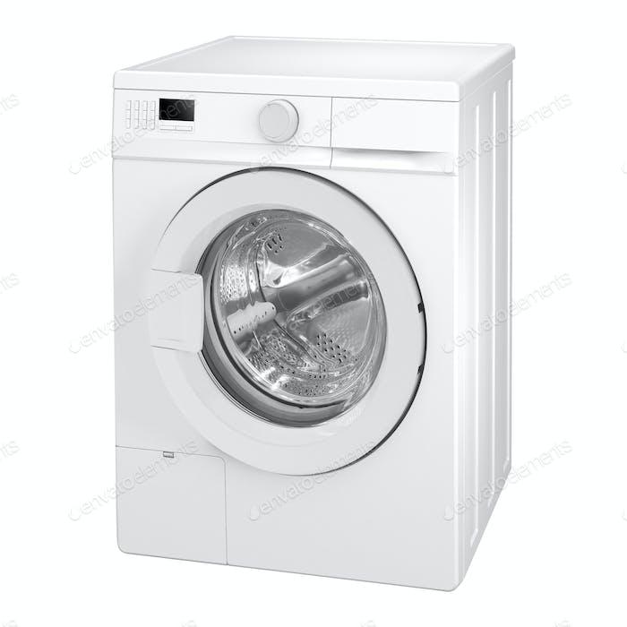 Washing machine isolated on white