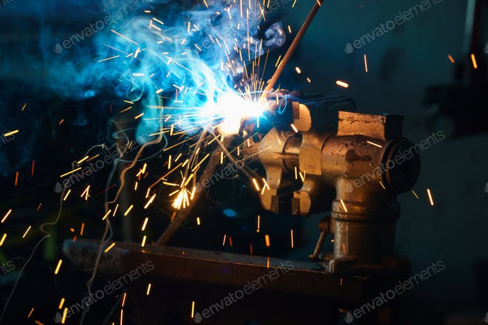 Welding process for metal