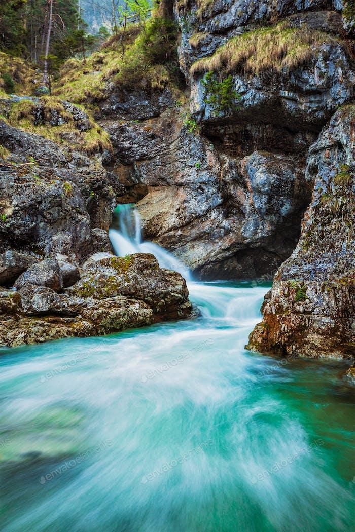 Kuhfluchtwasserfall Wasserfall. Deutschland