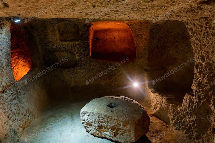 Major tourist attraction of Turkey underground city Kaymakli