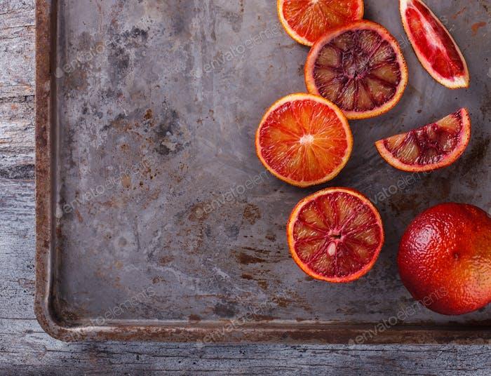 Blood orange.Citrus fruits. Antiviral healthy food. Immunity restoration.