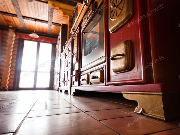 Interieur der Luxus-Vintage-Küche