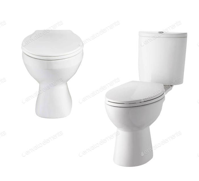 Toilet isolated