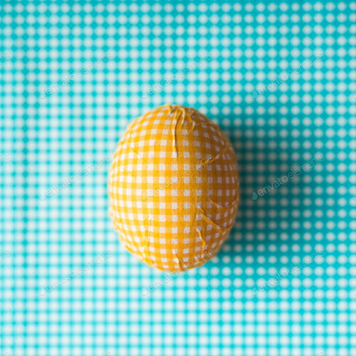 Easter egg decorated with paper napkin