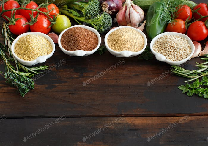 Gluten free grains and vegetables