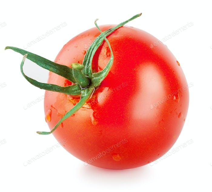 Round ripe tomato
