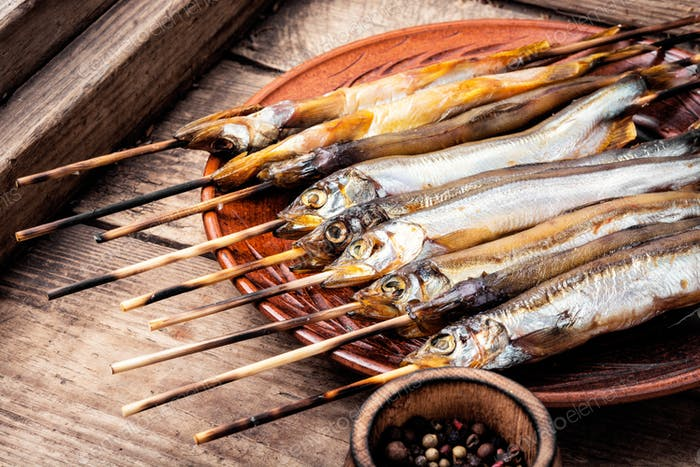 Appetizing smoked fish