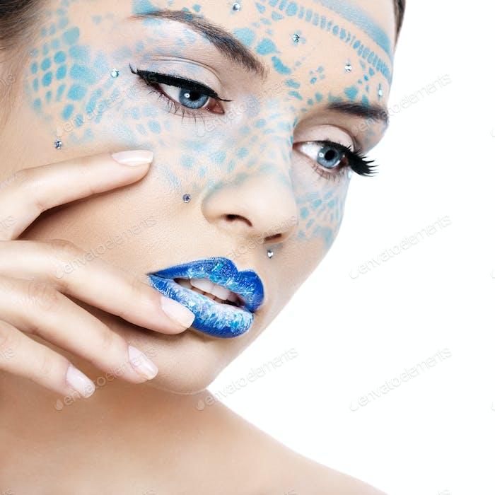 Woman in Fancy Makeup