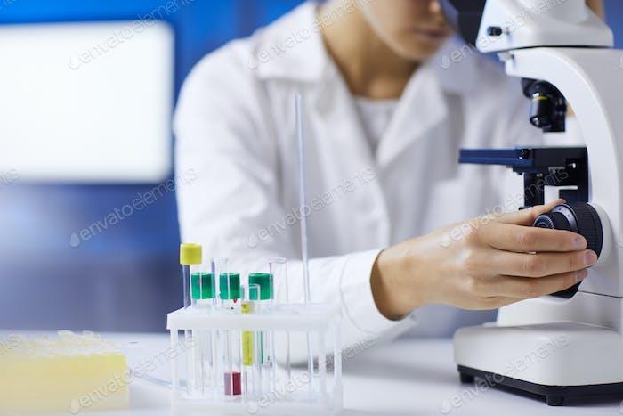 Female Scientist Closeup