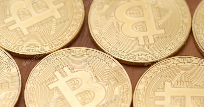 Group of Golden bitcoin