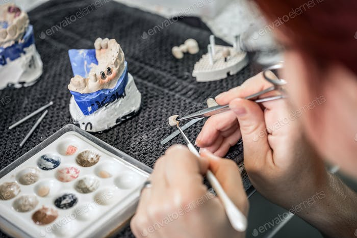 Dental technician paint