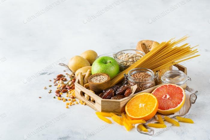 Glutenfreie Lebensmittel, gesunde Ernährung Konzept