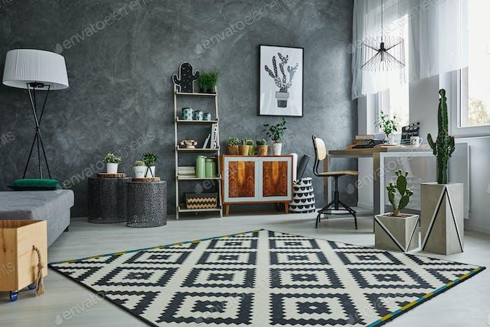 Flat with pattern carpet