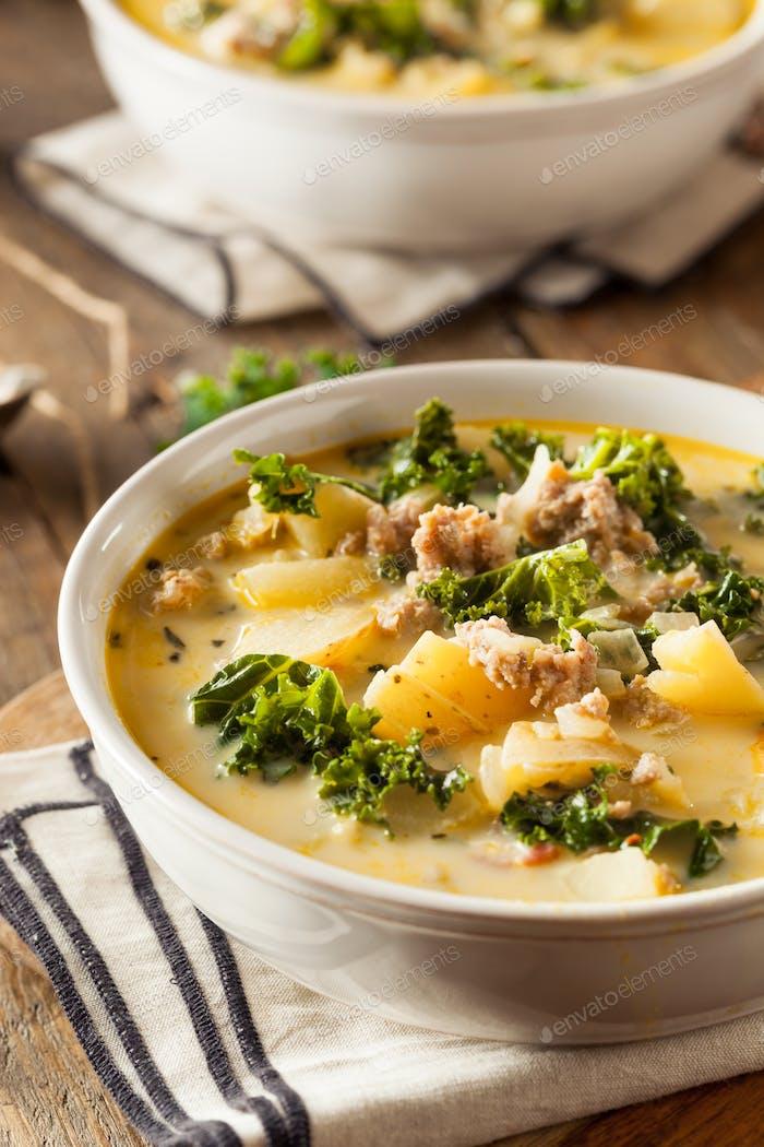 Homemade Warm Creamy Tuscan Soup