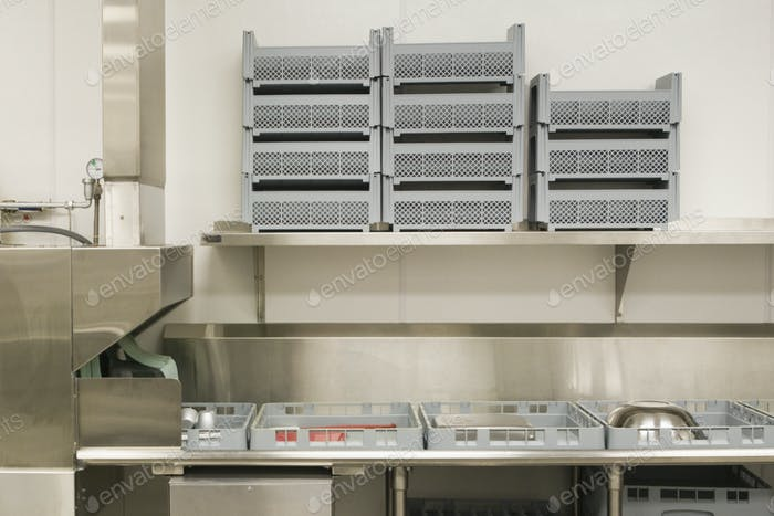 Dish Washing Area in a Commercial Kitchen