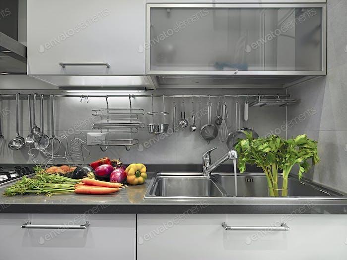 Interiors of a Modern Kitchen