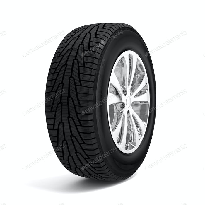 Car winter tire isolated