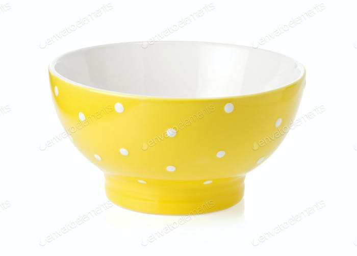 ceramic bowl isolated on white