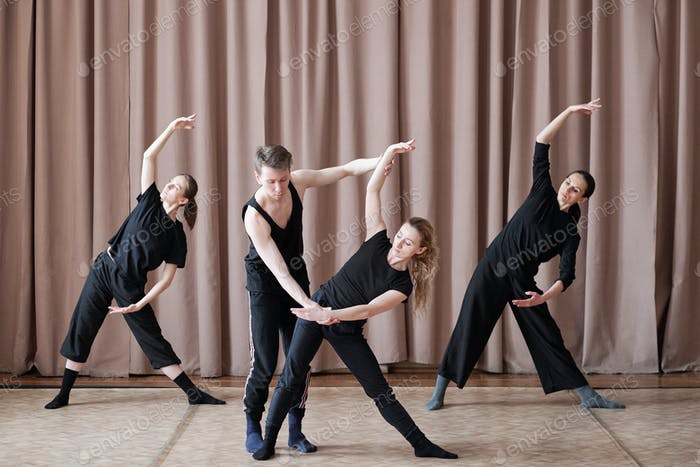 Dancers Working On Movements