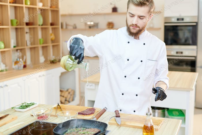 Handsome Chef Cooking
