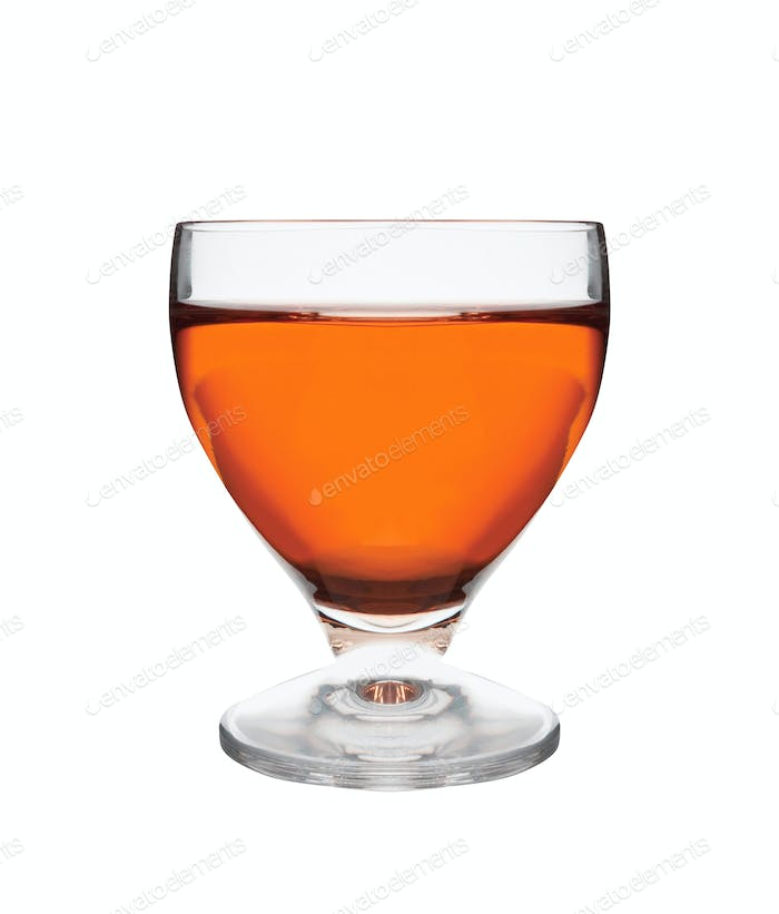 glass of whiskey isolated