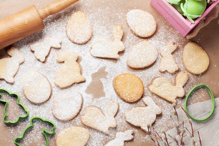 Easter gingerbread cookies