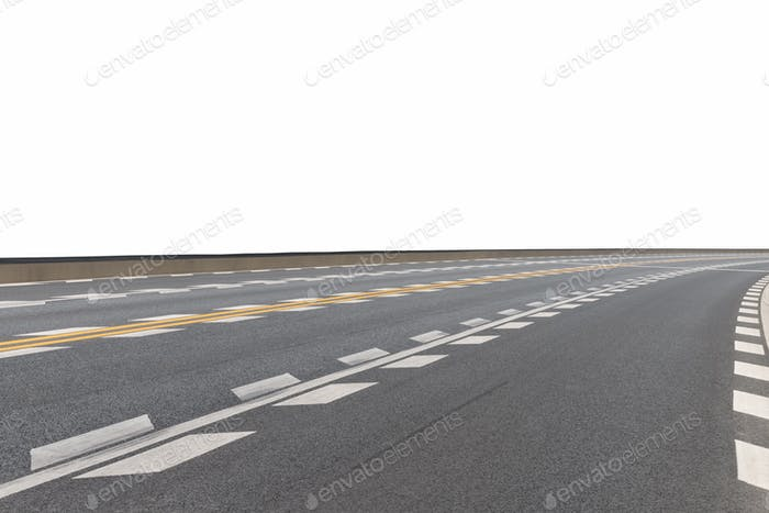 modern road surface isolated