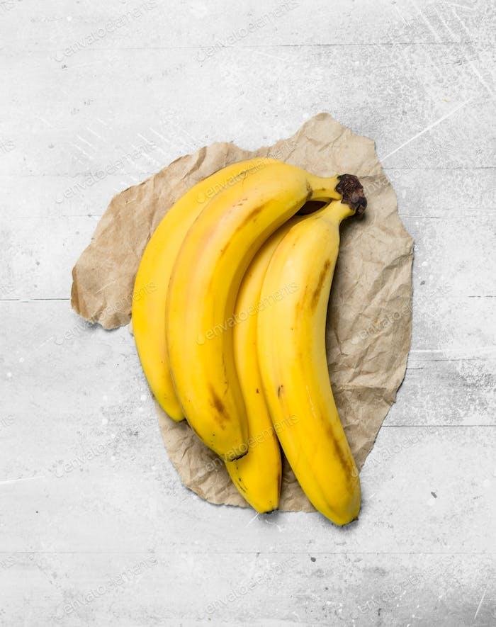 Ein Haufen frischer Bananen.