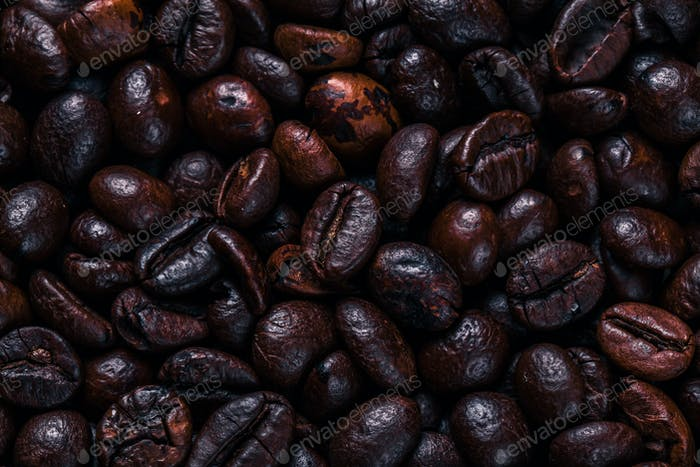 Coffee beans. Drink. Background