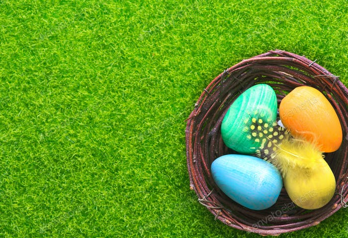 decorative painted Easter eggs