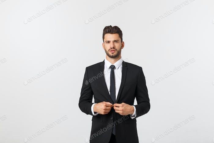 Business Concept - Portrait Handsome Business man confident face